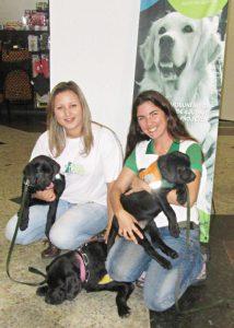 Vorstellung des Blindenhunde-Projektes in einem Einkaufszentrum