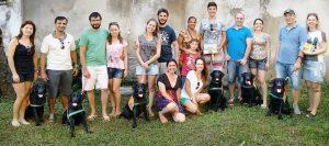 Erstes Treffen der Patenfamilien eines Wurfes der Blindenführhundschule Helen Keller