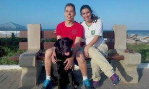 Pause beim Einarbeitungs-Lehrgang mit Hund Ian